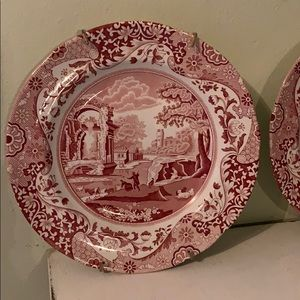 Set of two Spode decorative plates